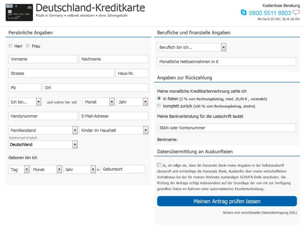Deutschland Kreditkarte Test