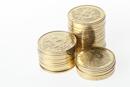 Bitcoin auf einem Stapel