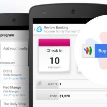 Google Wallet mit begrenzter Funktionalität