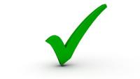 Vorteile gekennzeichnet mit grünem Haken