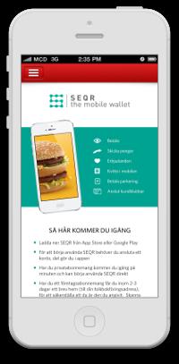 Bild Smartphone mit Optionen von SEQR