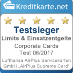 Testsiegel-2017-Limits-Lufthansa-Airplus-Servicekarten-GmbH-Airplus-Supreme-Card