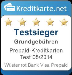 Testsieger Gebühren 2014 Prepaid Kreditkarten