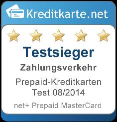 Testsieger Zahlungsverkehr Prepaid Kreditkarten 2014 2