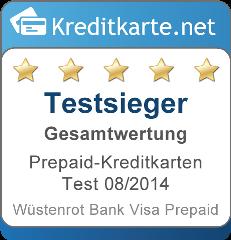 Testsieger Prepaid Kreditkarten Test 2014
