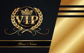 V.I.P. Aufschrift auf goldenem Banner