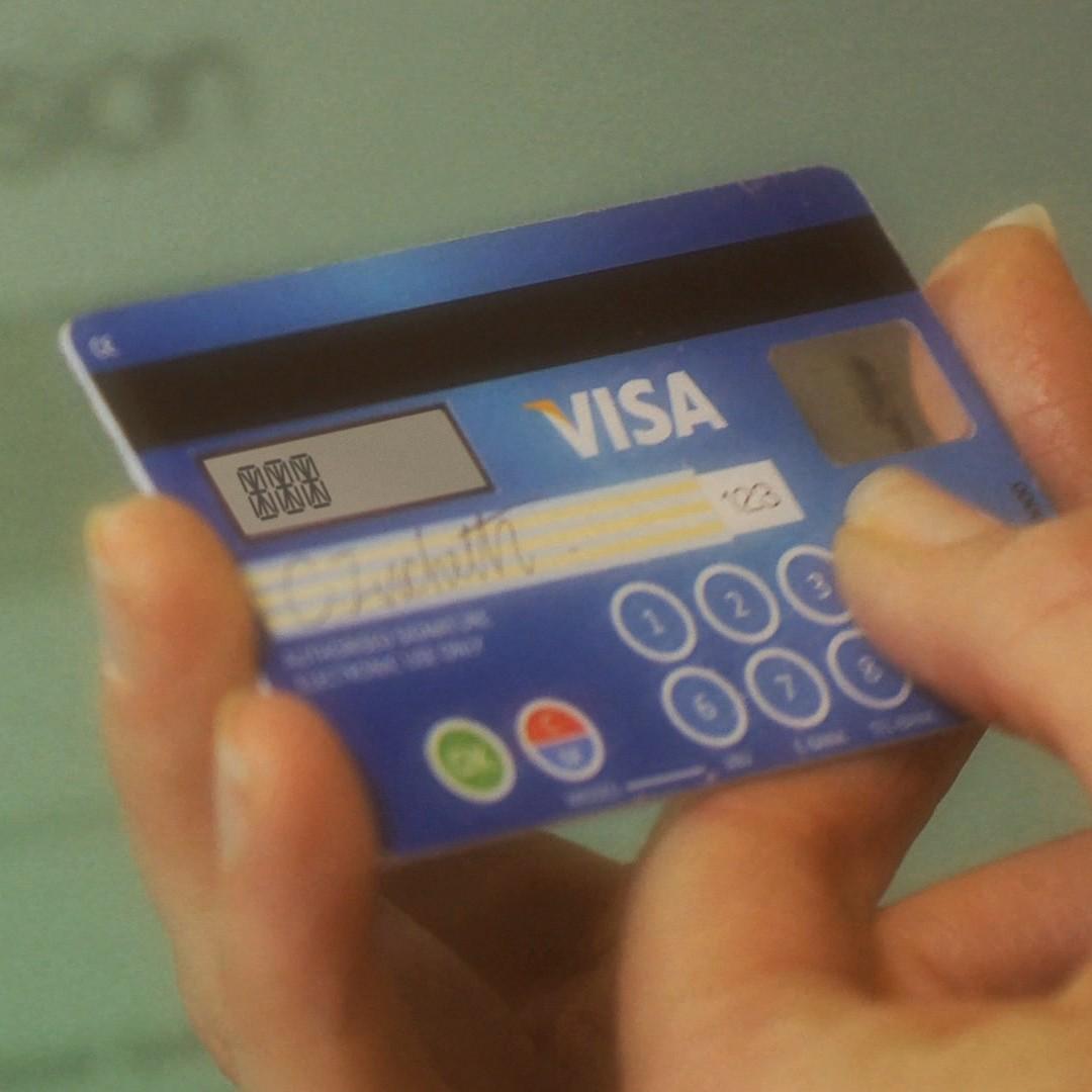 Eingabefeld und Display auf der Visa CodeSure