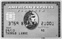 Graue AMEX Platinum Kreditkarte