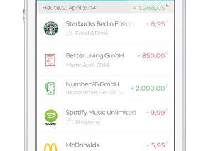 Screenshot NUMBEr26 App Umsätze