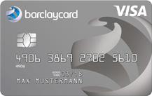 Graue Kreditkarte von Barclaycard New Visa