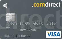 schwarze Kreditkarte mit VISA-Zeichen