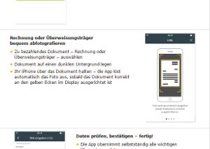 Erklärung zur Anwendung der smartPay app der comdirect