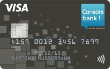 schwarze Kreditkarte der Consorsbank