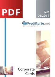 Deckblatt zur PDF Corporate Cards Test 2017