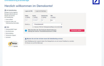 Onlinebanking Deutsche Bank MasterCard Travel