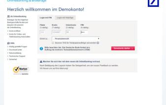 Onlinebanking Deutsche Bank MasterCard Travel