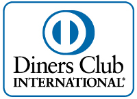 Aufschrift Diners Club International