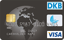 Graue VISA Kreditkarte der DKB Bank