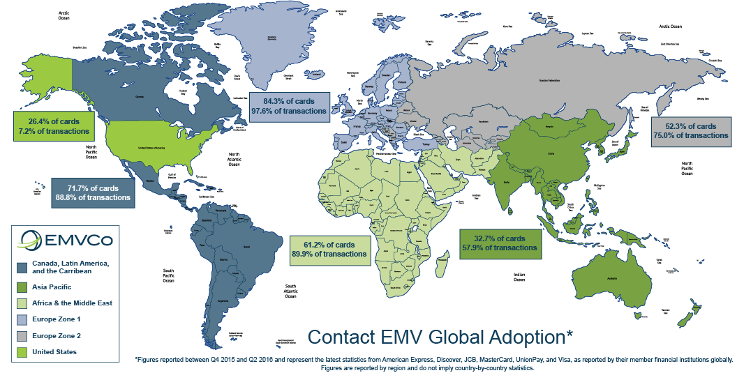 EMV Deployment Map