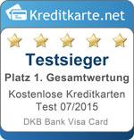 Siegel 1. Platz Gesamtwertung DKB Visa Card