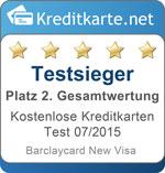 Siegel 2. Platz Gesamtwertung Barclaycard New Visa