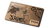 Goldene VISA Credit Card der Kasachischen Sberbank