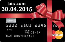Die Valovis schwarze Kreditkarte mit 20 Euro Startguthaben