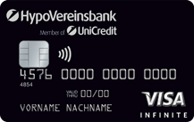 HVB Visa Infinite Card - Schwarze Luxuskreditkarte für Private-Banking-Kunden