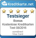 Siegel Testsieger Bonus comdirect Visa