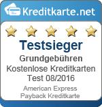 Siegel Testsieger Grundgebühren Amex Payback Kreditkarte
