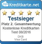 Siegel 2. Platz gesamt DKB New Visa