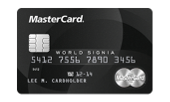 Schwarze MasterCard World Signia