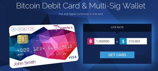 Bild der Website E-Coin, Funktionsweise des Wallets