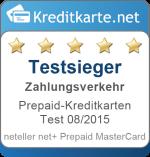Sieger Kategorie Zahlungsverkehr Prepaid-Kreditkarten Test 2015 neteller net+ Prepaid MasterCard