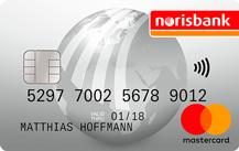 Silberne MasterCard der noribank