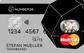 schwarze PrePaid Kreditkarte von NUMBER26