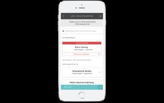 Screenshot App NUMBER26 Zahlungspartner