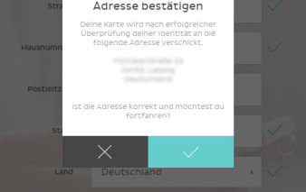 Screenshot Antragsprozess