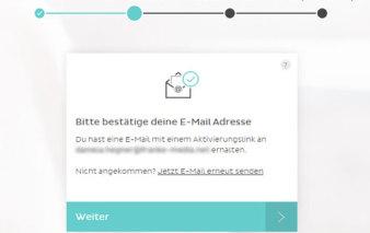 Screenshot Aktivierungslink