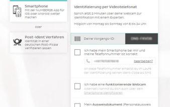 Screenshot Verifizierung via VideoIdent