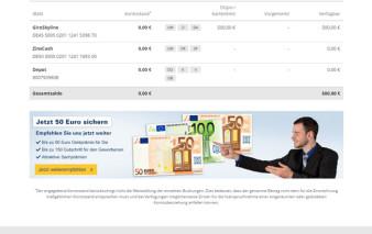 Screenshot Kundenportal 1822direkt