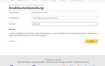 Screenshot Kundenportal 1822direkt