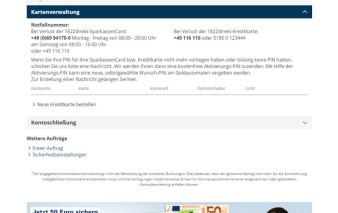Screenshot Onlinebanking 1822direkt Girokonto für Studenten