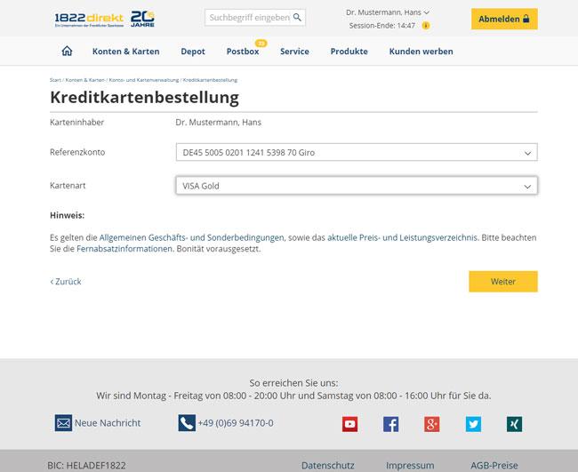 1822direkt Girokonto Mit Kreditkarte 120 Euro Bonus