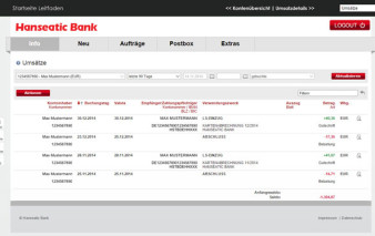 Online-Banking Hanseatic Bank GenialCard