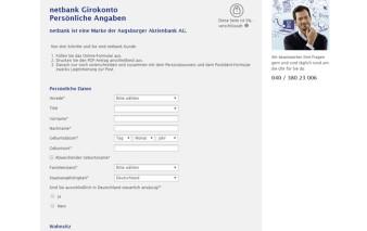 Antragsstrecke netbank MasterCard