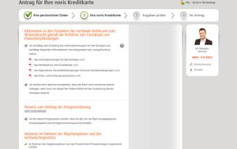 Antragsstrecke norisbank MasterCard