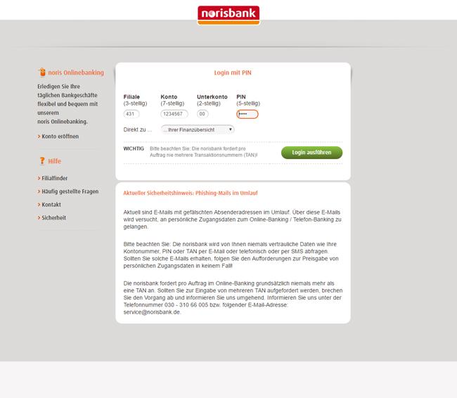 Norisbank Berlin Filialen: Online Banking Norisbank