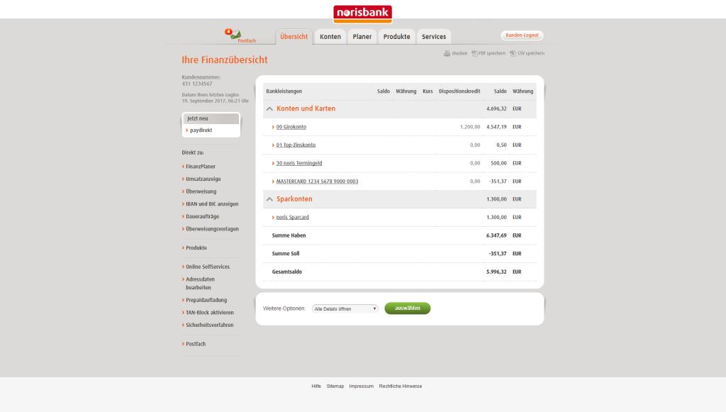 Norisbank Filialnummer