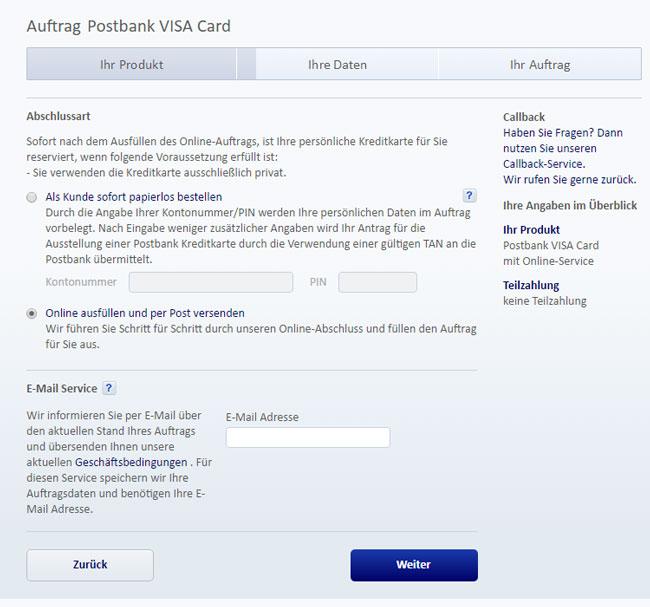 Postbank Visa Card Kreditkarte Im Test